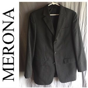 Merona gray pinstripe suit jacket  👔